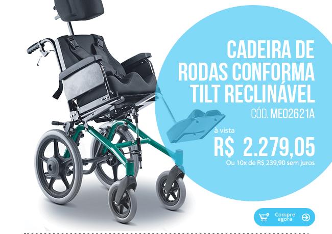 Cadeira de Rodas Conforma Tilt Reclinável Ortobras